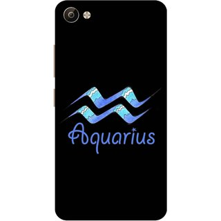Print Opera Hard Plastic Designer Printed Phone Cover for Vivo V5 Plus Aquarius black