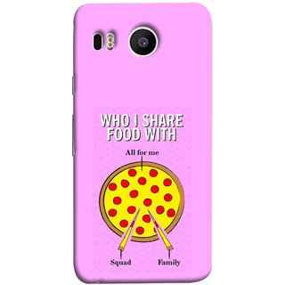 FUSON Designer Back Case Cover For LG Nexus 5X :: LG Google Nexus 5X New (Pizza Hut Domino Tomato Pizza Cheese Share Sharing)