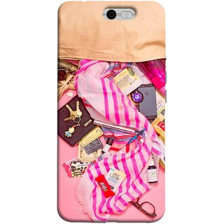 FUSON Designer Back Case Cover For InFocus M812 (Iphone Larabar Key Chains Money Notes Shampoo)