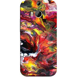 FUSON Designer Back Case Cover For HTC One M8 :: HTC M8 :: HTC One M8 Eye :: HTC One M8 Dual Sim :: HTC One M8s (Art Gallery Style Wallpaper Wow Perfect Wall Paint)