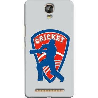 FUSON Designer Back Case Cover For Gionee Marathon M5 Plus (County Cricket India Aus England Bat Ball Batsman)