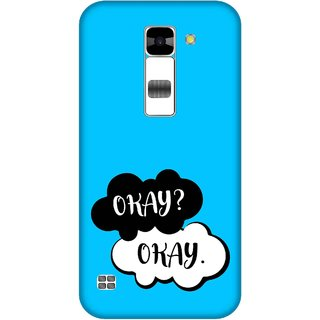 Print Opera Hard Plastic Designer Printed Phone Cover for  Lg K7 Okay okay