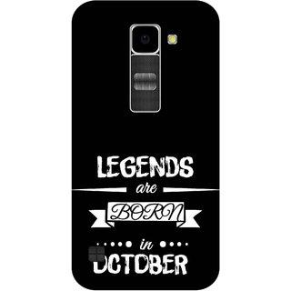 Print Opera Hard Plastic Designer Printed Phone Cover for Lg K10 Legends are born in october