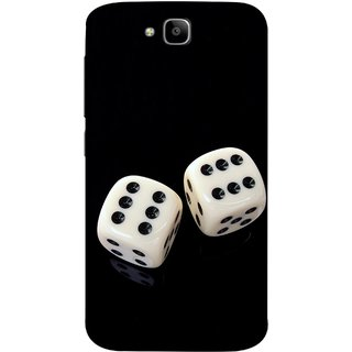 FUSON Designer Back Case Cover For Huawei Honor Holly 2 Plus :: Huawei Honor 2 Plus (Dice Pair Nice Game India Fevorite Children Boys Girls )