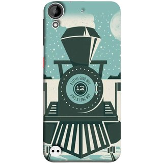 FUSON Designer Back Case Cover For HTC Desire 530 (Train Engine Smoke Little Good Will Goes Long Way)
