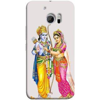 FUSON Designer Back Case Cover For HTC 10 :: HTC One M10 (Ramchandra Vivah King Maharaja Ayodhya Sita)