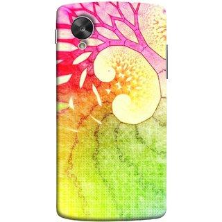 FUSON Designer Back Case Cover For LG Nexus 5 :: LG Google Nexus 5 :: Google Nexus 5 (Colourful Art Design River Shape Random Perfect)