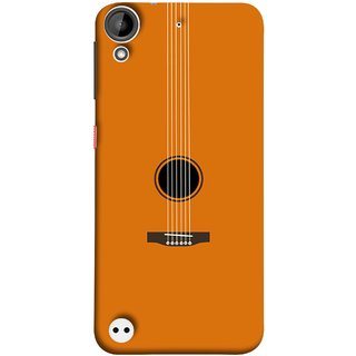 FUSON Designer Back Case Cover For HTC Desire 530 (Musical Instrument Vintage Bass Music Lovers Play)
