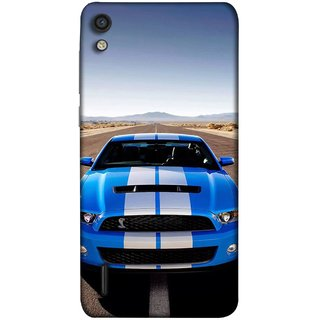 FUSON Designer Back Case Cover For Huawei Ascend P7 ( Road Shelby Mustang Engine Shelby Beautiful Blue)