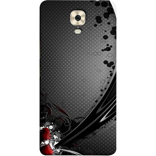 FUSON Designer Back Case Cover For Gionee M6 Plus (Red Bubbles Unique Whimsical Fantasy Fine Art Spots)