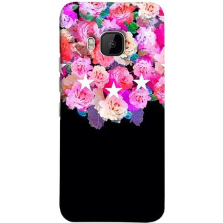 FUSON Designer Back Case Cover For HTC One M9 :: HTC One M9S :: HTC M9 ( Background Shining Flowers Floral Patterns With Stars)