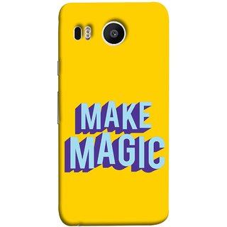 FUSON Designer Back Case Cover For LG Nexus 5X :: LG Google Nexus 5X New (Wand Magically Make Differnece To Others Life )