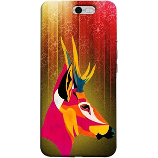 FUSON Designer Back Case Cover For InFocus M812 (Christmas Deer Origami Merry Abstract Reindeer)