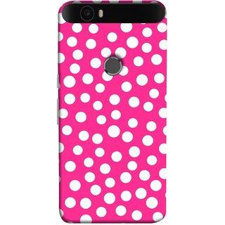 FUSON Designer Back Case Cover For Huawei Nexus 6P :: Huawei Google Nexus 6P (Small Bubbles Marbles Circle Pink Board)