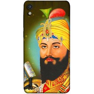 FUSON Designer Back Case Cover For Huawei Ascend P7 (King Beautiful Frame God His Mission Blesses Eagle)