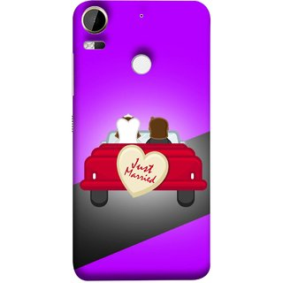 FUSON Designer Back Case Cover For HTC Desire 10 Pro (Banner Boards Marriage Coulples Car Travel )