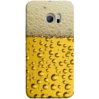 FUSON Designer Back Case Cover For HTC 10 :: HTC One M10 (Party Friendship Yaro Ki Mahfil Cold Chilled Beer Glass )