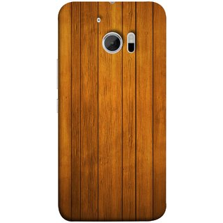 FUSON Designer Back Case Cover For HTC 10 :: HTC One M10 (Unique Wooden Pine Background Vintage Table Tiles)