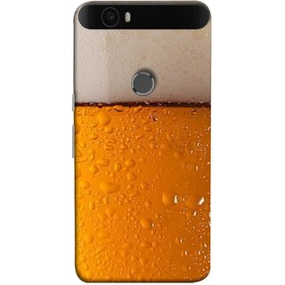 FUSON Designer Back Case Cover For Huawei Nexus 6P :: Huawei Google Nexus 6P (Cold Chilled Beer Glass Tub Pint Bubbles Full)