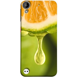 FUSON Designer Back Case Cover For HTC Desire 530 (Orange Juice Dripping Slice Citrus Fruit Flesh)
