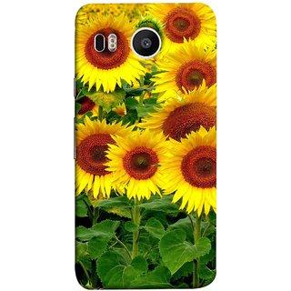 FUSON Designer Back Case Cover For LG Nexus 5X :: LG Google Nexus 5X New (Field Of Bright Happy Sunflowers Outside Oil Food)