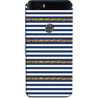 FUSON Designer Back Case Cover For Huawei Nexus 6P :: Huawei Google Nexus 6P (Spacing Golden Canvas Painting Ceramic Tiles)