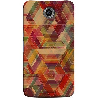 FUSON Designer Back Case Cover For Motorola Nexus 6 :: Motorola Nexus X :: Motorola Moto X Pro :: Google Nexus 6 (Geometric Watercolour Art Print Pink Bright)