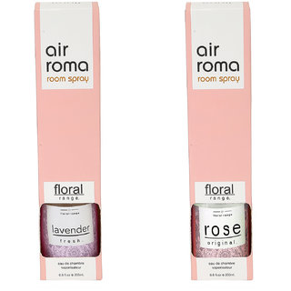 Airroma Rose Original and Lavender Fresh Home Air Freshener