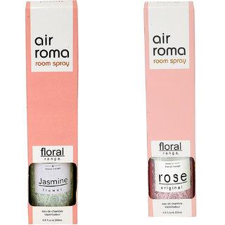 Airroma Rose Original and Jasmine Flower Home Air Freshener