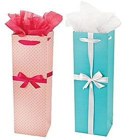 Elegant Dotted Pink & Audrey Gift Bag (Set Of 2) |