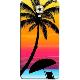 FUSON Designer Back Case Cover For Gionee M6 Plus (Colorful Island Sunset Painting Canvas Wallpapers )