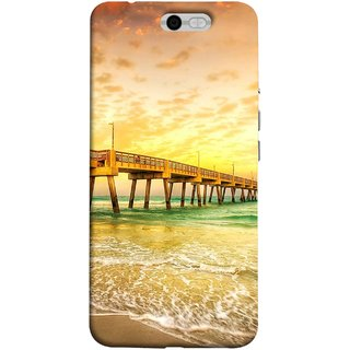 FUSON Designer Back Case Cover For InFocus M812 (Jetty Wharf Clear Water Newzeland India Beaches)