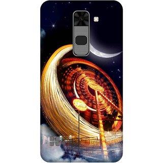 Print Opera Hard Plastic Designer Printed Phone Cover for  Lg Stylus 2 Stars and moon
