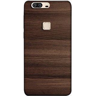 FUSON Designer Back Case Cover For Huawei Honor V8 (Strips Brown Gray Sunmica Plywood Back Art Laminate)