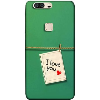 FUSON Designer Back Case Cover For Huawei Honor V8 (You Message Card Over Red Wooden Board Stock Photos)