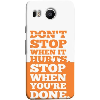 FUSON Designer Back Case Cover For LG Nexus 5X :: LG Google Nexus 5X New (Stop When You Are Done Always See Targets )