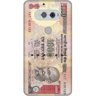 Print Opera Hard Plastic Designer Printed Phone Cover for  Lg V20 1000 rupees note