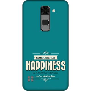 Print Opera Hard Plastic Designer Printed Phone Cover for  Lg Stylus 2 Happiness quote