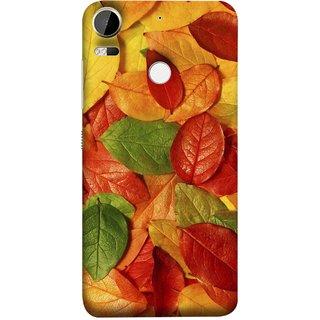 FUSON Designer Back Case Cover For HTC Desire 10 Pro (Nature Colour Big Lotus Leaves Network Of Veins)