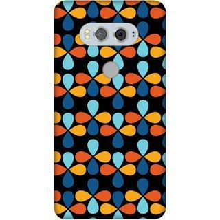 Print Opera Hard Plastic Designer Printed Phone Cover for Lg V20 Beautiful  art blue orange yellow