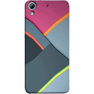 FUSON Designer Back Case Cover For HTC Desire 626G :: HTC Desire 626 Dual SIM :: HTC Desire 626S :: HTC Desire 626 USA :: HTC Desire 626G+ :: HTC Desire 626G Plus (Bright Beautiful Colour Strips And Band Wave Triangle)
