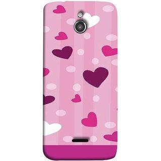 FUSON Designer Back Case Cover For InFocus M2 (Always I Love You Red Hearts Couples Together Valentine)