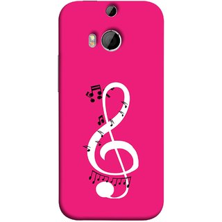 FUSON Designer Back Case Cover For HTC One M9 Plus :: HTC One M9+ :: HTC One M9+ Supreme Camera (Disc Music Notes Music Lover And Collector )