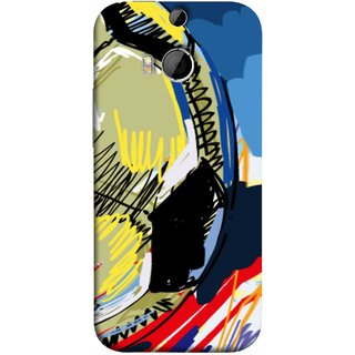 FUSON Designer Back Case Cover For HTC One M9 Plus :: HTC One M9+ :: HTC One M9+ Supreme Camera (Curved Straignt Acrylic Texture Lines Oil Paint Bright)