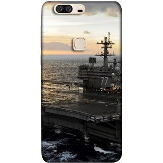 FUSON Designer Back Case Cover For Huawei Honor V8 (Indian Submarine Shoots Ship With Missile Training )
