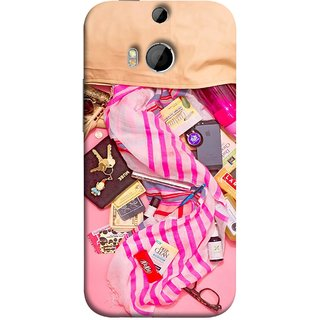 FUSON Designer Back Case Cover For HTC One M8 :: HTC M8 :: HTC One M8 Eye :: HTC One M8 Dual Sim :: HTC One M8s (Iphone Larabar Key Chains Money Notes Shampoo)