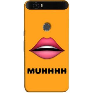 FUSON Designer Back Case Cover For Huawei Nexus 6P :: Huawei Google Nexus 6P (Red Lips Pinky Flying Kisses Girl Lovers Couples Hot)