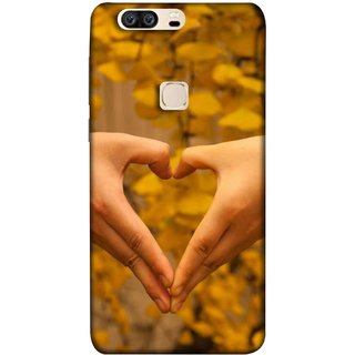 FUSON Designer Back Case Cover For Huawei Honor V8 (Close Up Male And Female Hands Making Heart Shape)