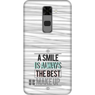 Print Opera Hard Plastic Designer Printed Phone Cover for  Lg Stylus 2 A smile is always the best makeup