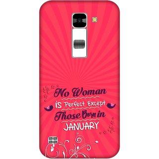 Print Opera Hard Plastic Designer Printed Phone Cover for  Lg K7 Perfect woman born in january